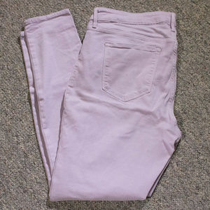 Old Navy Rockstar Jeans Mid-Rise in Pink/Lavender